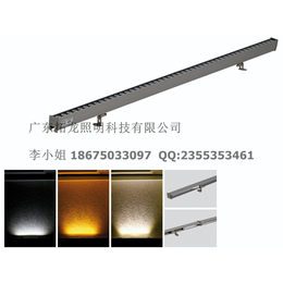 12W暖白光LED线条灯设计隐藏电源线安装方式
