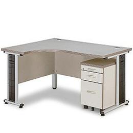 L型单人办公桌  无屏风隔板 定制销售
