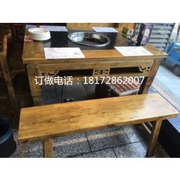 中式实木雕刻八仙桌仿古八仙桌农庄酒店火锅桌八仙桌