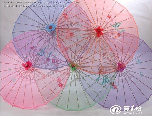 龙古堂民间工艺品 透明绢丝伞绢纱丝绸伞油纸伞工艺伞 舞蹈道具伞