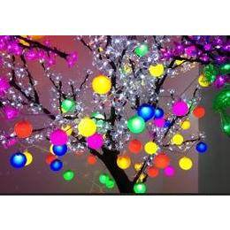 厂家直销LED/珍珠球球串灯/圣诞树彩灯景观灯