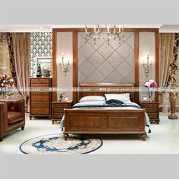 美式实木床系列传统榫卯工艺