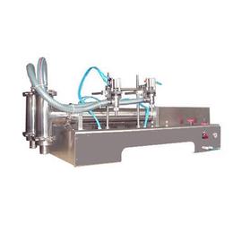 水疗素半自动2头液体灌装机A防腐剂卧式双头气动定量充填机