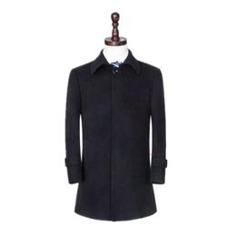 男士羊绒大衣 中长款风衣 羊毛呢子英伦秋冬外套