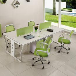 各种蝴蝶钢架办公桌 带屏风 定制销售