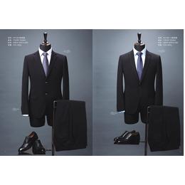 HY1001型号 2018合体型男士黑色西装