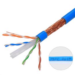 揭阳P.F.T网线生产厂家超六类纯铜SFTP屏蔽网线规格报价