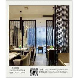 仿青古铜不锈钢板厂家定制餐厅复古发黑青古铜屏风花格隔断