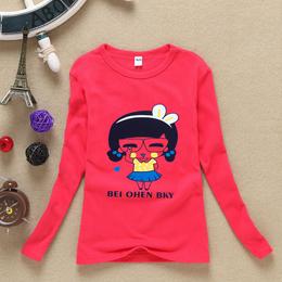 宽城厂家批发秋季童装长袖T恤儿童服装关爱小孩健康成长好衣服