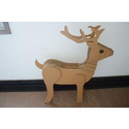 济宁厂家制作纸玩具纸模型 指鹿为马儿童手工教材瓦楞纸造型