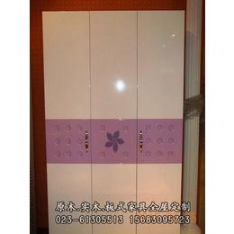 重庆明伟家具厂专业定制实木颗粒板衣柜