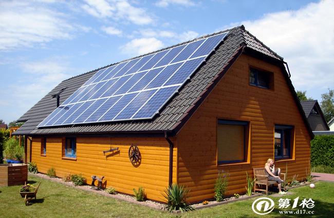 6,为低碳环保出一份力案例展示国外别墅光伏v案例建模仿古屋顶图片