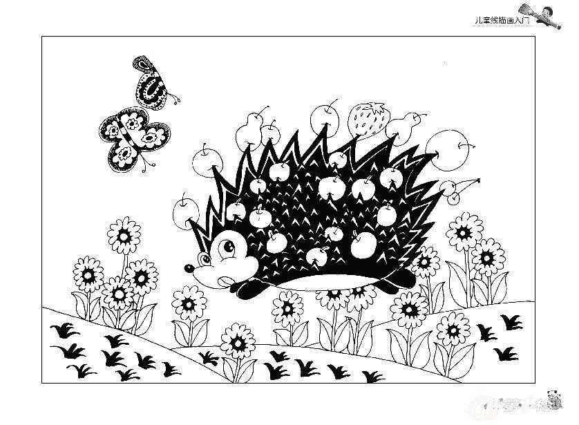 正版幼儿童美术绘画书籍 儿童线描画入门教程 动物水墨画国画起步