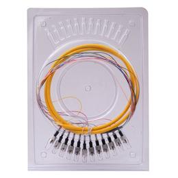 FC12芯束状尾纤 圆头12色尾纤 带状尾纤