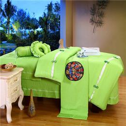 家纺热卖纯色美容床罩 美容院四件套缩略图