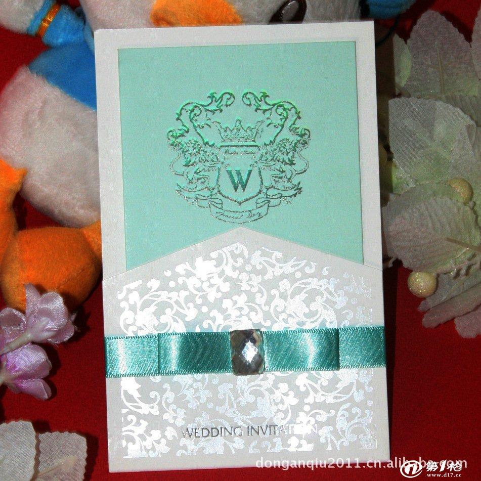 【兴鑫忆喜帖】欧式结婚请柬 祝福贺卡 纯洁优雅温馨浪漫x0002