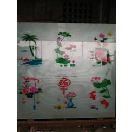 厂家供应  布纹乳化布纹丝印玻璃  门头花