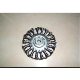供应 卓邦扭丝平型钢丝轮 125*16钢丝轮 工业用 厂家直销