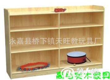 幼儿园储物柜架置物架收纳柜儿童玩具柜杉木松木实木整理柜架35型
