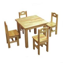 多人幼儿园课桌椅实木桌椅