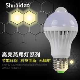 华涌LED球形灯泡E27E14照明节能灯螺旋口3W白暖光