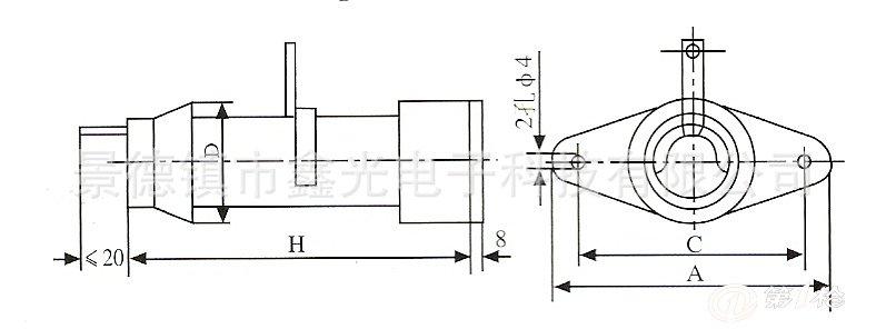 型瓶形高功率陶瓷电容器