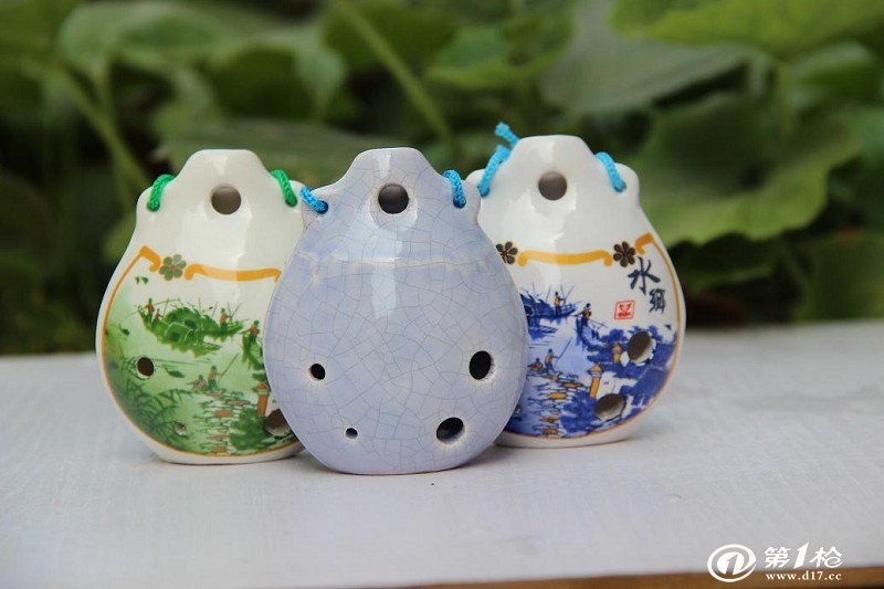 景德镇新立6孔陶笛(瓷笛) 6孔中音c调 六孔冰裂陶埙 陶瓷乐器