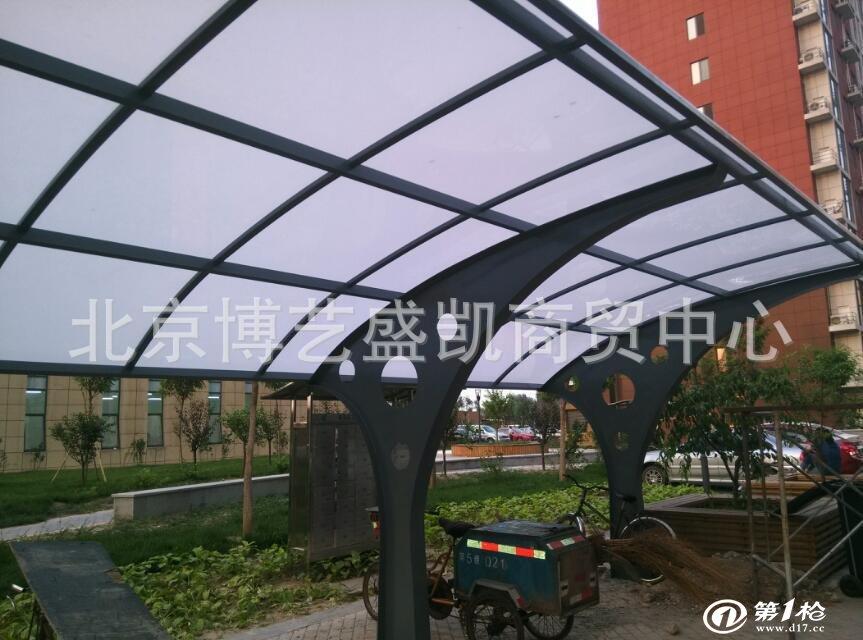 钢板阳光棚 钢结构阳光棚 自行车棚 汽车棚 品质二十年 五年保修