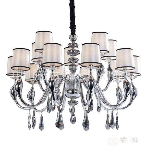 新古典后现代时尚灯饰铁艺欧式艺术天鹅水晶吊灯客厅餐厅卧室灯具