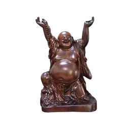 古沉木雕刻艺术品JXLYQ00006笑佛