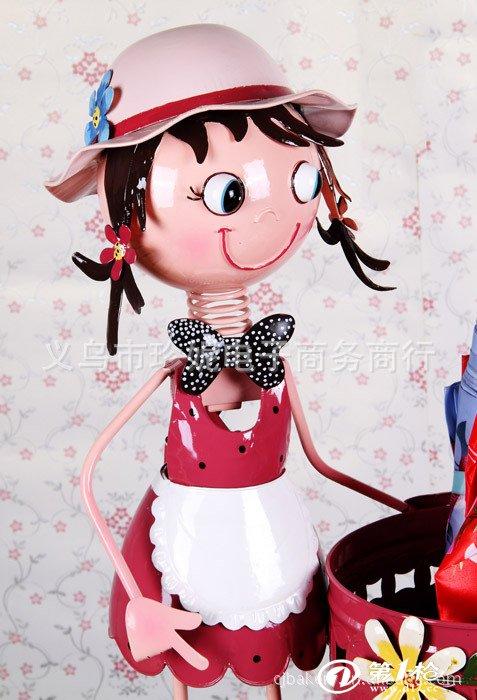 供应韩式田园风格大号铁皮娃娃雨伞桶 外贸原单多用途家居装饰品