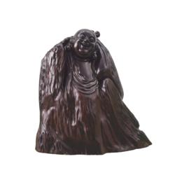 古沉木雕刻艺术JXLYQ00048 笑佛
