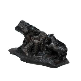 古沉木雕刻艺术JXLYQ00065 伯乐相马