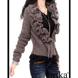 女式针织毛衣开衫图案大全
