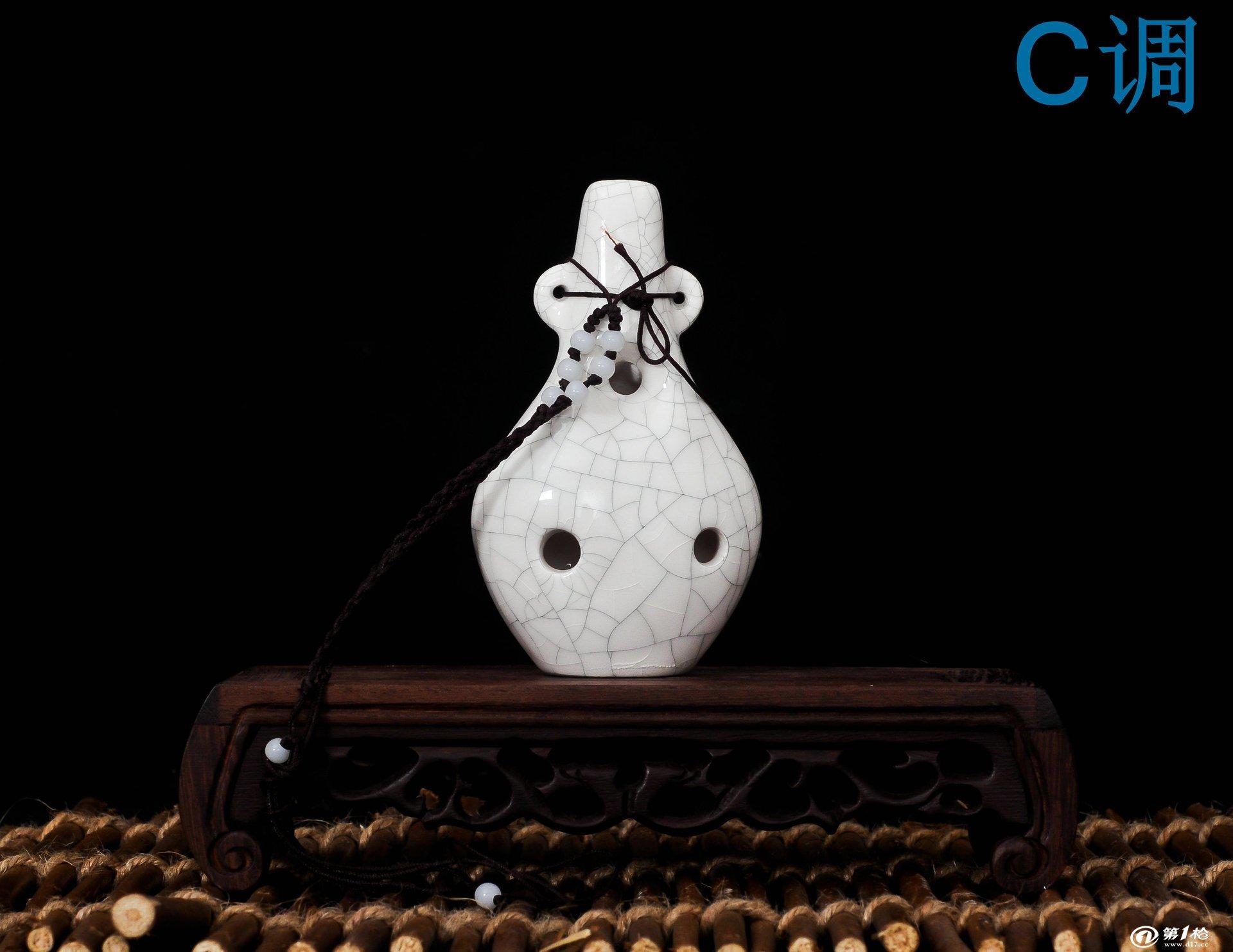 六孔陶笛 陶瓷名族乐器 c调精品6孔陶瓷乐器 送曲谱  【特点】:宝贝采