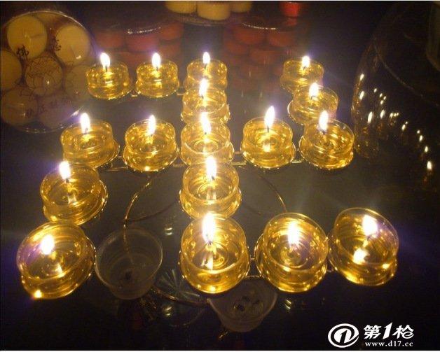 卍字灯座 万字莲花酥油灯烛台 佛教烛台 酥油灯架 蜡烛台 供佛灯图片