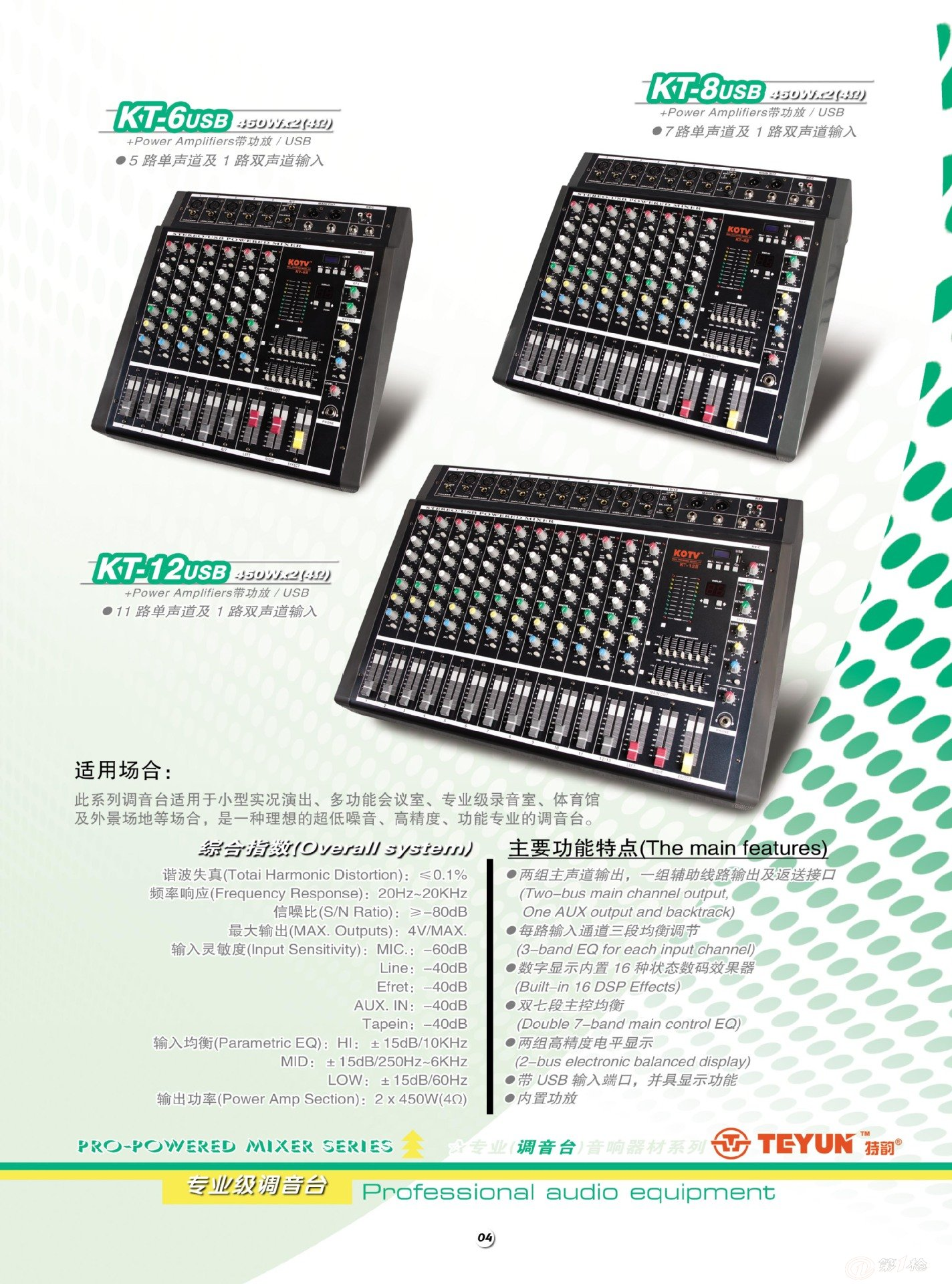 teyun特韵:厂家直销舞台专业调音台12路