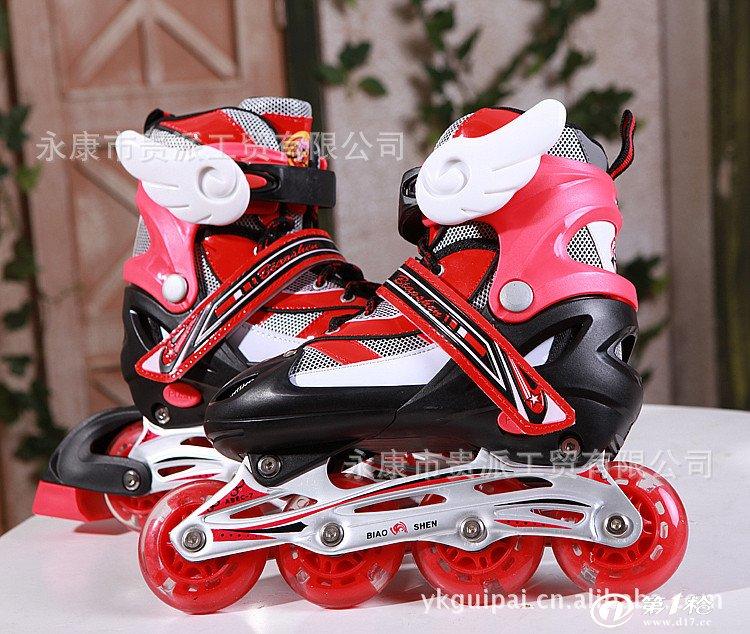 溜冰鞋 儿童套装 轮滑鞋 全套旱冰鞋滑冰鞋成年直排可调 g901