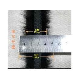 【厂家直销】国产黑色正0.8cm水貂毛条帽条批发 订做各种尺寸