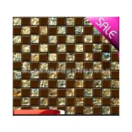 【华硅】HG-DD623001金色电镀混<em>金箔</em><em>水晶玻璃</em><em>马赛克</em> 背景墙 装修