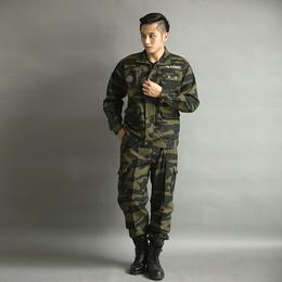 户外男式休闲套装工程服迷彩水洗纯棉长袖