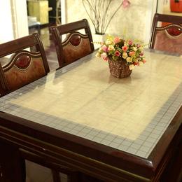 进口水晶板餐桌布软玻璃桌布透明台布防水免洗磨砂pvc塑料桌垫