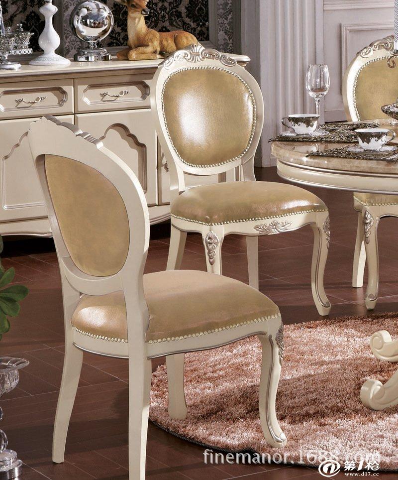 厂价供应大理石餐桌 实木雕花欧式美式餐桌 1.6米长桌