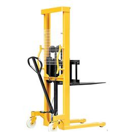 直供手动堆高车 SJJA20E 手动液压叉车 升高2米