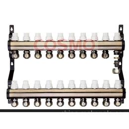江苏地暖分集水器2~10路青古铜专利出水设计