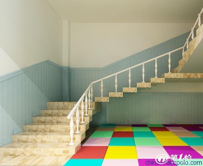 2017年楼梯墙裙贴瓷砖效果图