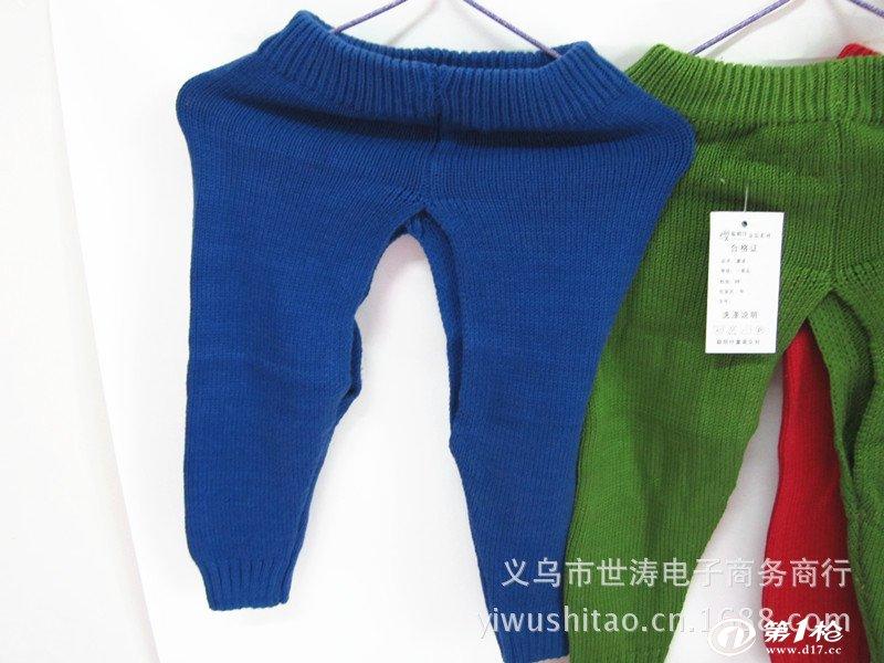 童裤 手工编织毛线裤 婴儿开档裤 儿童毛裤 宝宝保暖裤 不起球