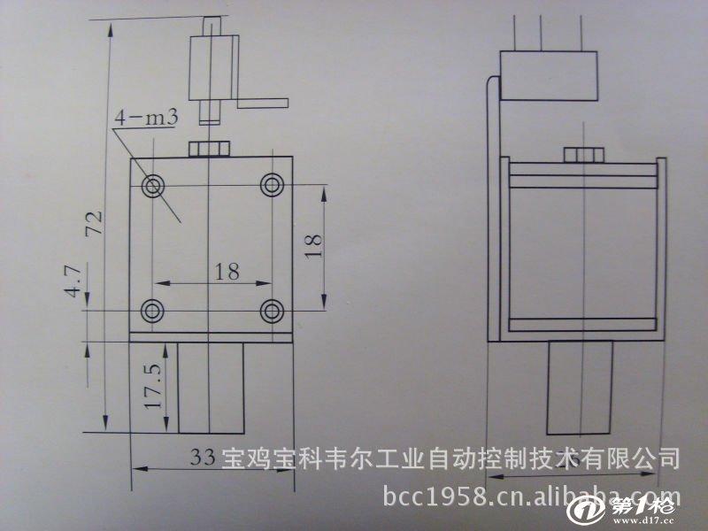 供应DCT-4F闭锁电磁铁 DCT-4F闭锁电磁铁广泛应用于电力高压开关及其其它电力设备的闭锁环节。 DCT系列塑封线圈电磁铁,采用先进的封装技术塑封而成。本产品具有高度的绝缘强度和机械强度,耐湿热、耐机械震动、耐冲击等优点。 电磁铁使用环境:环境温度:-55+65 环境湿度4098%低气压:4665.