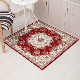 厂家直销  经典红色方形小地毯 地垫 桌垫 电脑椅垫