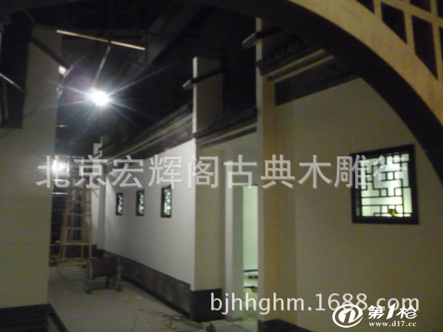 中式室内装修 花格吊顶